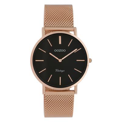 OOZOO Vintage Rosegoudkleurig/Zwart horloge C9926 (36 mm)