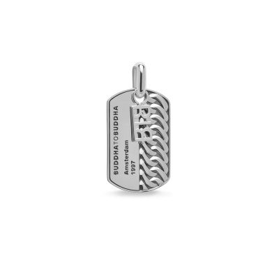 Buddha to Buddha Heritage 925 Sterling Zilveren Chain Army Tag Pendant BTB669one