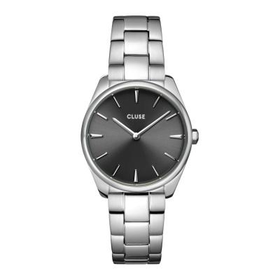 Cluse Féroce Petite Zilverkleurig/Zwart horloge CW11202