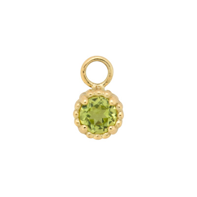 ANNA + NINA 14 Karaat Gouden Solid Gold Birthstone August Single Oorbedel 19-3M904008G