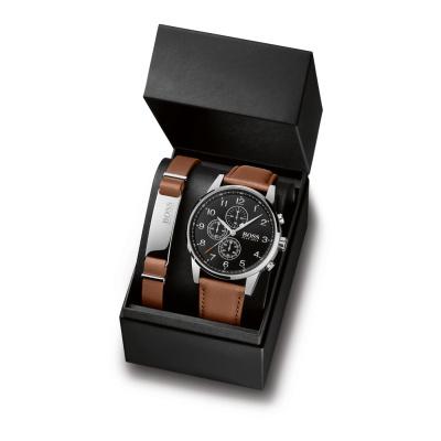 BOSS Navigator horloge en Armband Giftset HB1570097