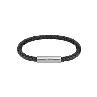 BOSS Braided Leather Armband HBJ1580152 (Lengte: 19.00 cm)