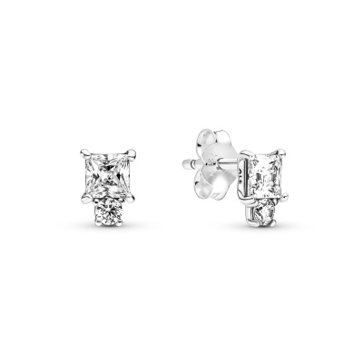 Pandora Timeless Sparkling Round & Square Oorknoppen  290036C01