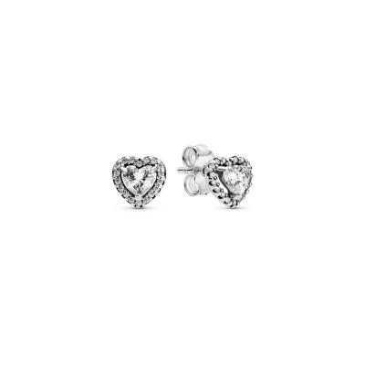 Pandora Stories 925 Sterling Zilveren Heart Oorbellen 298427C01
