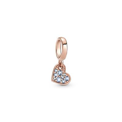 Pandora Colours PANDORA Rose Light Blue Pavé Tilted Heart Hanger 789404C01