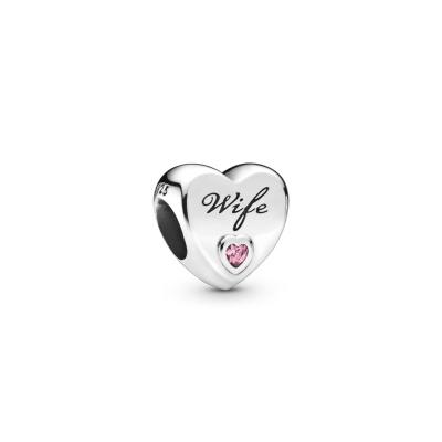 Pandora Moments 925 Sterling Zilveren Wife Heart Bedel 798249PCZ