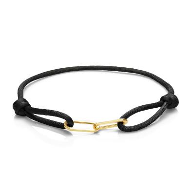 Isabel Bernard La Elysée Zwarte Satijnen Armband IB09001-01