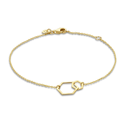 Isabel Bernard 14 Karaat Gouden Belleville Elena Double Armband IB320023