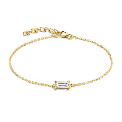 Isabel Bernard 14 karaat gouden Baguette Mirell armband IB320038