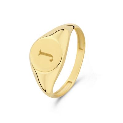 Isabel Bernard Le Marais Lauren 14 Karaat Gouden Initial Ring IB330034J (Letter: J)