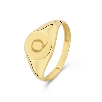 Isabel Bernard Le Marais Lauren 14 Karaat Gouden Initial Ring IB330034Q (Letter: Q)