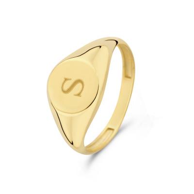 Isabel Bernard Le Marais Lauren 14 Karaat Gouden Initial Ring IB330034S (Letter: S)
