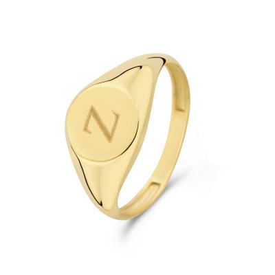 Isabel Bernard Le Marais Lauren 14 Karaat Gouden Initial Ring IB330034Z (Letter: Z)