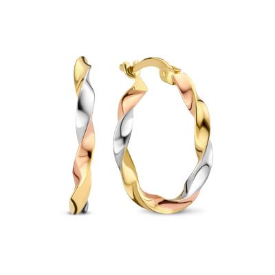 Isabel Bernard Tricolore Maeva 14 Karaat Gouden Creolen IB360109