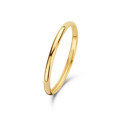 Isabel Bernard 14 Karaat Gouden Asterope Solid Stacking Ring IBXR00085