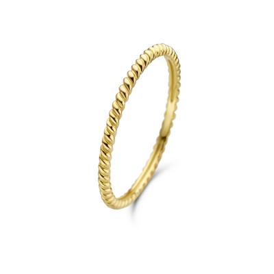 Isabel Bernard Asterope 14 Karaat Gouden Twisted Ring IB330016
