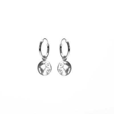 Karma 925 Sterling Zilveren Hoops Symbols Earth silver Oorknoppen M2216
