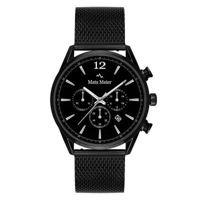 Mats Meier Grand Cornier Chrono Mat Zwart horloge MM00117