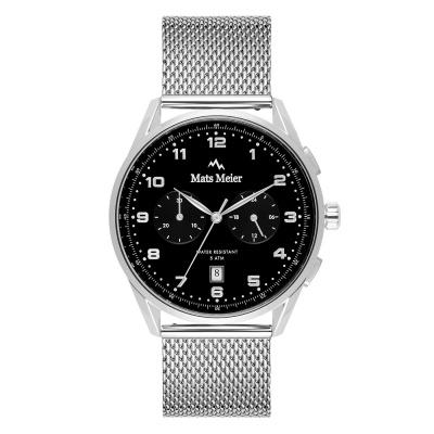 Mats Meier Mont Vélan Chrono Zwart/Zilverkleurig horloge MM10003