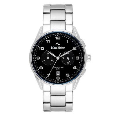 Mats Meier Mont Vélan Chrono Zwart/Zilverkleurig horloge MM10004