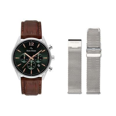 Mats Meier Grand Combin Herenhorloge En Horlogeband Giftset MM90014