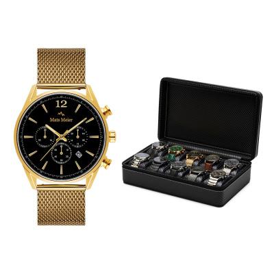 Mats Meier Grand Combin Horlogebox Zwart Met Horloge Giftset  MM90019