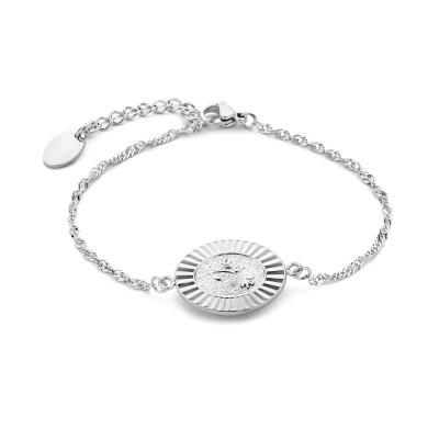 May Sparkle Bloom Girl Bloom Amber Zilverkleurige Armband MS10023