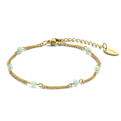 May Sparkle Happiness Jessie Goudkleurige Armband MS320010 (Lengte: 16.50-19.50 cm)