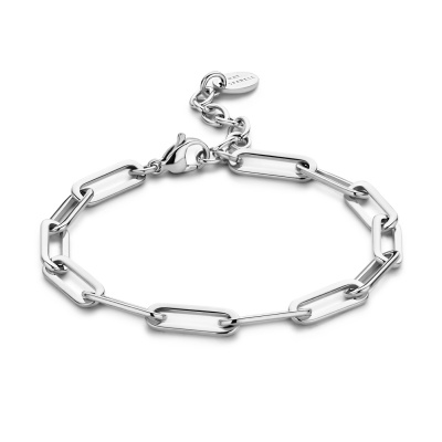 May Sparkle Happiness Rose Zilverkleurige Armband MS320015 (Lengte: 16.50-19.50 cm)