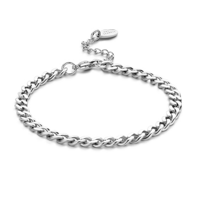 May Sparkle Happiness Lily Zilverkleurige Armband MS320017 (Lengte: 17.50-20.50 cm)