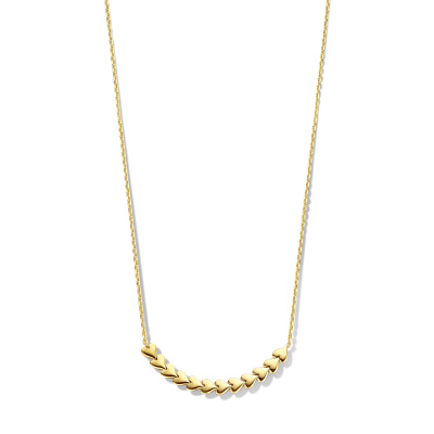 May Sparkle Happiness Sunny 925 Sterling Zilveren Goudkleurige Ketting MS340011 (Lengte: 38.00-43.00 cm)