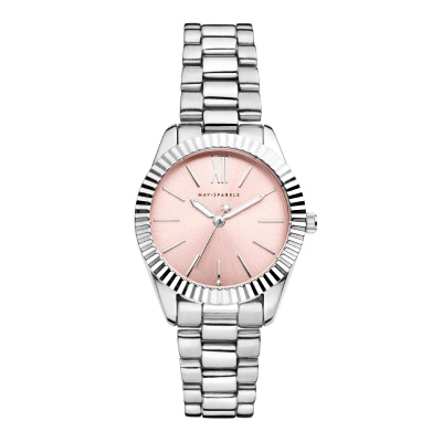 May Sparkle Luxurious Life Senna Zilverkleurig/Roze horloge MSA002