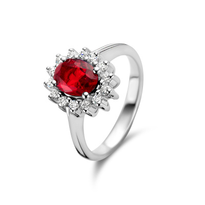 Parte Di Me Mia Colore Rosa  925 Sterling Zilveren Ring PDM33015