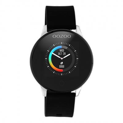 OOZOO Zwart/Zilverkleurig Display Smartwatch Q00113