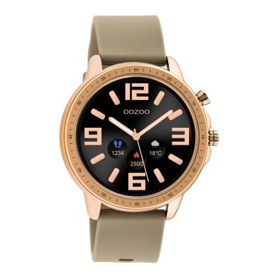 OOZOO Taupe/Roségoudkleurig Display Smartwatch Q00302