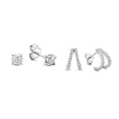 Selected Jewels Selected Gifts 925 sterling zilveren set oorbellen SJSET1330074