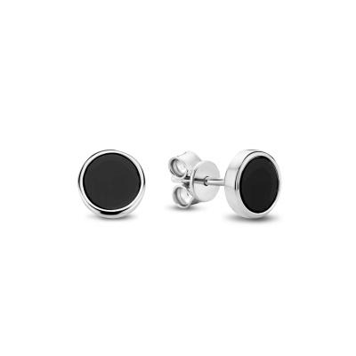 Selected Jewels Onyx Oorbellen 1326610