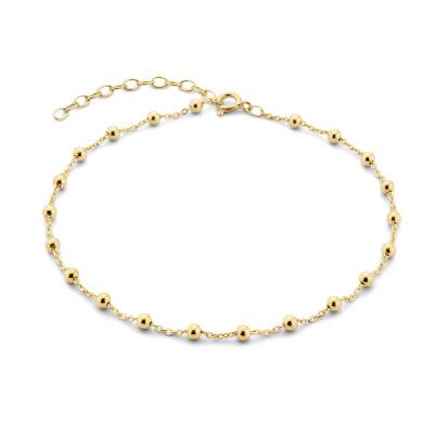 Selected Jewels Julie Maud 925 Sterling Zilveren Goudkleurig Enkelbandje SJ310008