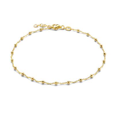 Selected Jewels Léna Nina 925 Sterling Zilveren Goudkleurig Enkelbandje SJ310014