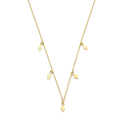 Selected Jewels Julie Sanne 925 Sterling Zilveren Goudkleurige Ketting SJ340023