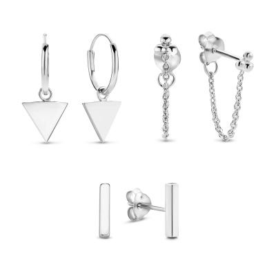 Selected Jewels 925 Sterling Zilveren Mila Mare Earparty SJSET040285