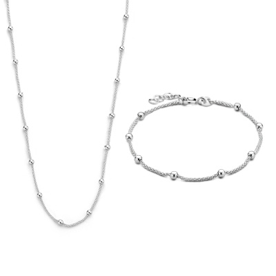 Selected Jewels Selected Gifts 925 sterling zilveren set armband en ketting SJSET1021137