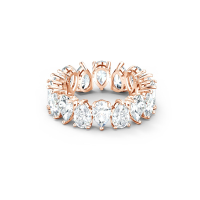 Swarovski Vittore Pear Roségoudkleurige Ring met Zirkonia steentjes