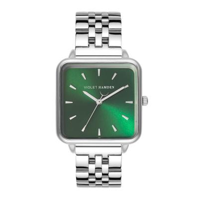Violet Hamden The Dawn Zilverkleurig/Groen horloge VH03008