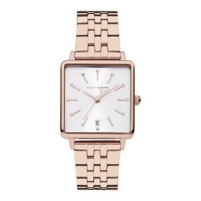 Violet Hamden Dawn Rosé Goud- en Zilverkleurig horloge (34 mm) VH09002