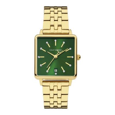 Violet Hamden Dawn Goudkleurig/Groen horloge (34 mm) VH09004
