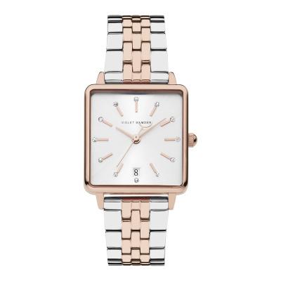 Violet Hamden Dawn Rosé Goud- en Zilverkleurig horloge (34 mm) VH09009
