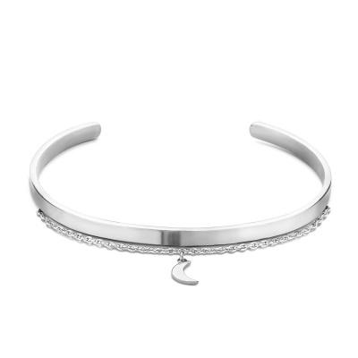 Violet Hamden Crescent Luna Zilver Armband VH10119 (Verstelbaar van 15-20 cm)