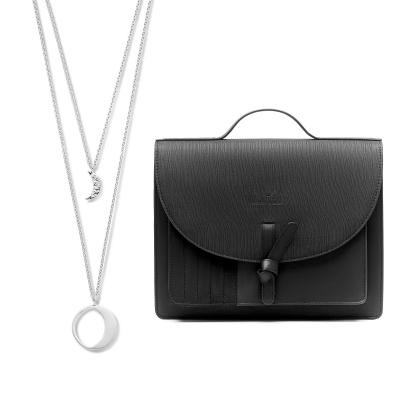 Violet's Gift 925 sterling zilveren ketting en zwarte crossbody VH90034