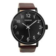 OOZOO Timepieces Bruin/Zwart horloge C9403 (48 mm)